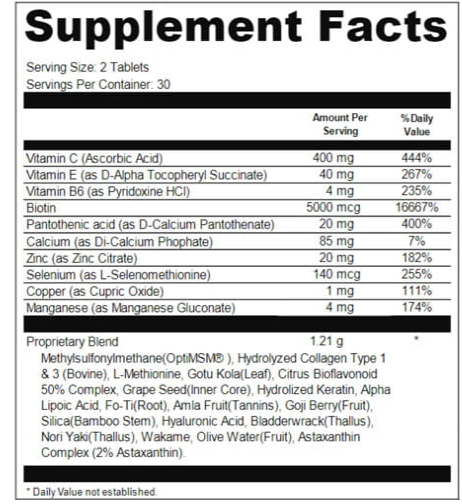Divine Locks Formula Ingredients List