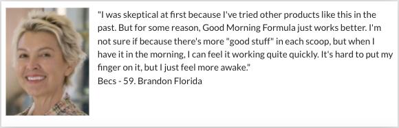 Good Morning Formula Testimonials
