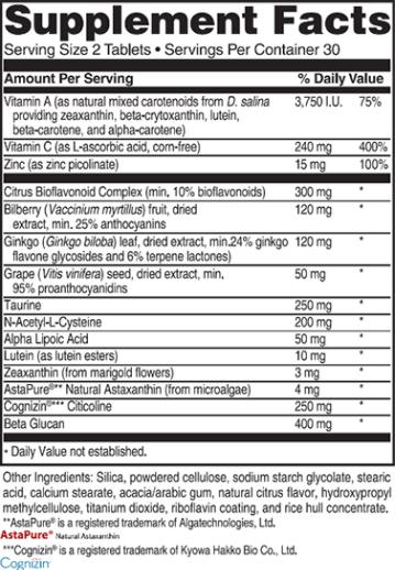 Advanced Vision Formula Ingredients