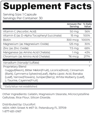 GlucoFort Supplement