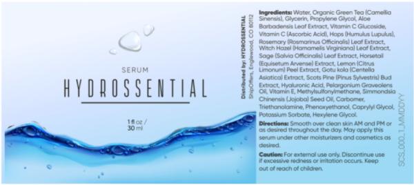 Hydrossential Ingredients