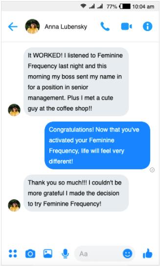 feminine frequency formula